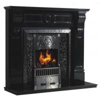 China Indoor White Marble Fireplace on sale