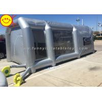 China Grey Large Inflatable Tent Drive - In Workstation Inflatable Spray Paint Booth With Filter on sale