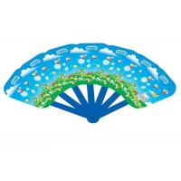 Best Customized PVC Plastic Products , Folding Hand Fans Full Color Printing wholesale