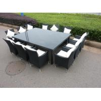 Outdoor furniture weatherproof wicker 13 piece set table for 13 piece dining table set