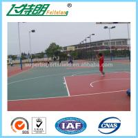 Quality Outdoor Silicon PU Sports Flooring Stable Tennis Court Surfacing Materials for sale