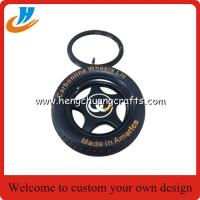 Quality Tyre/tire keychain custom your own logo car tyre key chain with 30mm ring for sale