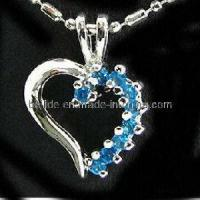 Quality Charming Silver Jewellery Necklace with Heart Pendant for sale