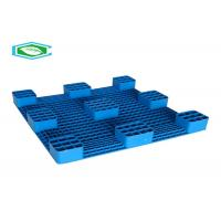 Quality 9 Legs Single Faced Nestable Lightweight Plastic Pallets For Cargo Transportation And Storage for sale