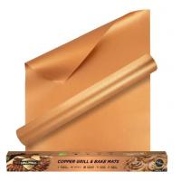 Buy Fireproof High Temperature Tape Non - stick Charcoal PTFE BBQ Grill Mat in Copper Color at wholesale prices