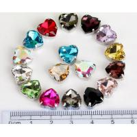 Buy cheap heart shape 10mm colored crystal sew on rhinestone beads Fancy Stones Jewels from wholesalers