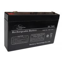 Quality Low Self Discharge 6V Lead Acid Battery 7ah For Security And Alarm System for sale