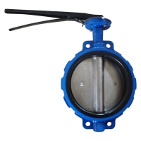 Buy cheap GGG40 EPDM Seal Center Line Wafer Butterfly Valve Lever Operator from wholesalers