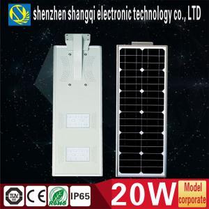 China Intelligent High Power 20w Solar LED Street Lights With PIR Sensor Light Control on sale