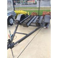 Two Track 7x4 Tandem Axle Heavy Duty Utility Trailer For Motorcycle Transport