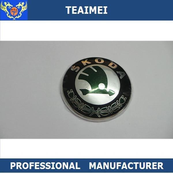 Cheap 88mm Plastic Chrome Body Sticker Auto Part Car Emblem Badge For Skoda for sale