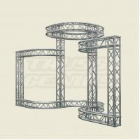 Quality Silver Aluminum Stage Lighting Truss System For Event 2 TONS Loading for sale
