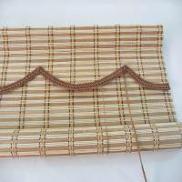 Quality Popular Bamboo Roman Blinds , Bamboo Window Shades Weaving With Raffia for sale