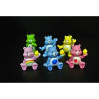 China Rainbow Color Key Ring Plastic Toy Figures Care Bear Sell For Collection For kids on sale
