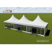 China Aluminum Modular Pyramid Roof Top Garden Party Tents , Outdoor Marquee Party Tent on sale