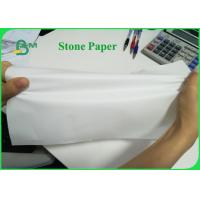 China Tear Resistant 92g 216g Stone Wrapping Paper For Making Notebook Eco-friendly on sale