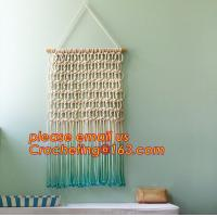 China Macrame Wall Art Hanging, Tapestry Wedding Decoration, Bunting Banner knitted, crochet wedding bunting on sale