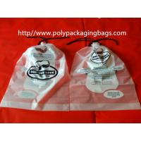 Quality Garment / Pillow Packaging Poly Bag Clear Drawstring Plastic Bags for sale