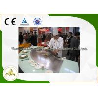 China Beef Mutton Gas Teppanyaki Grill , Commercial Griddle Plates For Gas BBQ on sale