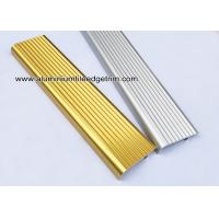 Buy cheap F Type Toothed Anti-skid Metal Aluminum Stair Nosing For Tile from wholesalers
