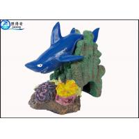 Buy cheap Blue Little Shark Personalised Large Fish Tank Ornaments Decorations with Polyresin from wholesalers