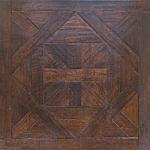 Quality dark walnut color Bordeaux pattern parquet flooring for sale