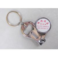 Quality Promotional Nail Clipper Bottle Opener Keychain With Custom Printed Logo for sale