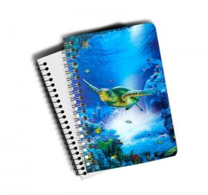 Quality 0.6mm Thickness Plastic Cover Spiral 3D Lenticular Notebook 80 Pages A4/A5/A6 Size for sale