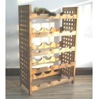 Best Five Tier Walnut Wood Furniture Modern Wine Rack For Kitchen Storage wholesale