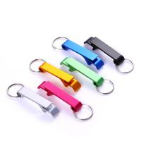 China Customized Plating Metal Bottle Cap Opener Keychain Ring Stainless Steel Beer Opening on sale