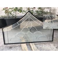 Quality Float Tempered Decorative Panel Glass For Architectural Door Flat Edge for sale