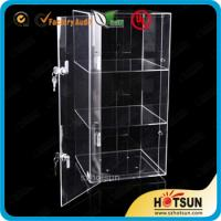 China Elegant 3 Tiers Acrylic Display Box with lock,Acrylic Display Case on sale