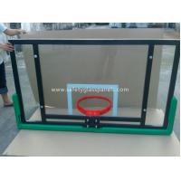 Quality Adjustable Laminated Glass Basketball Backboard 8mm / 10mm / 12mm for sale