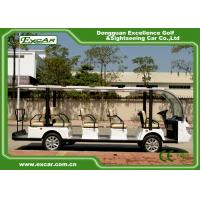 Quality White 72V Electric Sightseeing Cart For 14 Person / electric passenger Bus for sale