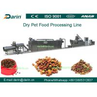 High Efficiency Automatic Pellet Pet Food Extruder Machine With CE And ISO9001
