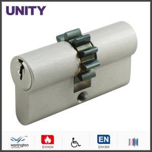 China Gear Cam Brass Mortice Lock Cylinder Matt Chrome , Speical Door Lock on sale