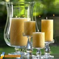Quality modern style cylindrical glass candle holder for sale