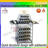 China Shopping mall metal wire display rack for wine on sale