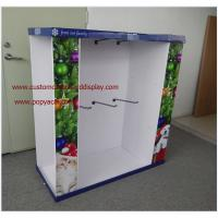 Best Christmas Gifts customizable Cardboard Pallet Display with metal hooks wholesale