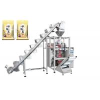 Quality Rice / Pet Foods Packaging Machine With Lifting Conveyor Fast Speed 5 - 60 Bags / Min for sale