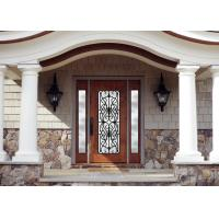 Quality Personal Style Spray Coating Wrought Iron Glass Door With Hot Dipfabricated for sale