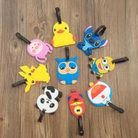 Quality Cartoon Character 3D PVC Luggage Tag With Custom Company Or Team Logo for sale