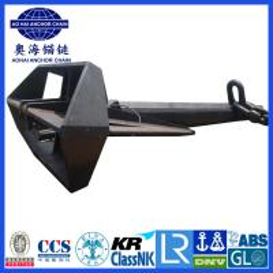 Quality Flipper Delta Anchor with KR LR BV NK DNV ABS Certification for sale