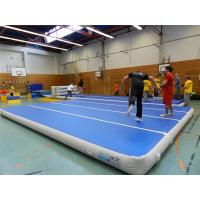 Quality Blue Top Inflatable Air Track Mat For Fitness Center Training Customized Pressure for sale