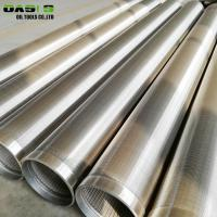 Quality Plain Weave Stainless Steel Well Screen Pipe Perforated Continuous Slot Rod Base for sale