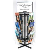 Quality Free Standing Rotating Retail Display Fixtures With Metal Brochure Display Rack for sale