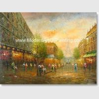 Buy cheap Palette Knife Paris Oil Paintings Handmade Thick Oil Texture Bedroom Deco from wholesalers