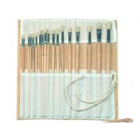 Quality Natural Color Bamboo Brush Holder Useful Tools , Artist Brush Roll Case 41.5 * 56cm for sale