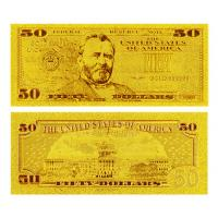 Best 24 Kt 0.999 Gold Dollar Bill $50 wholesale