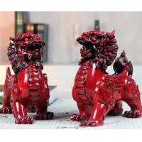 Buy cheap Double Unicorn business gift Desktop Dual Kirin Resin Craft from wholesalers